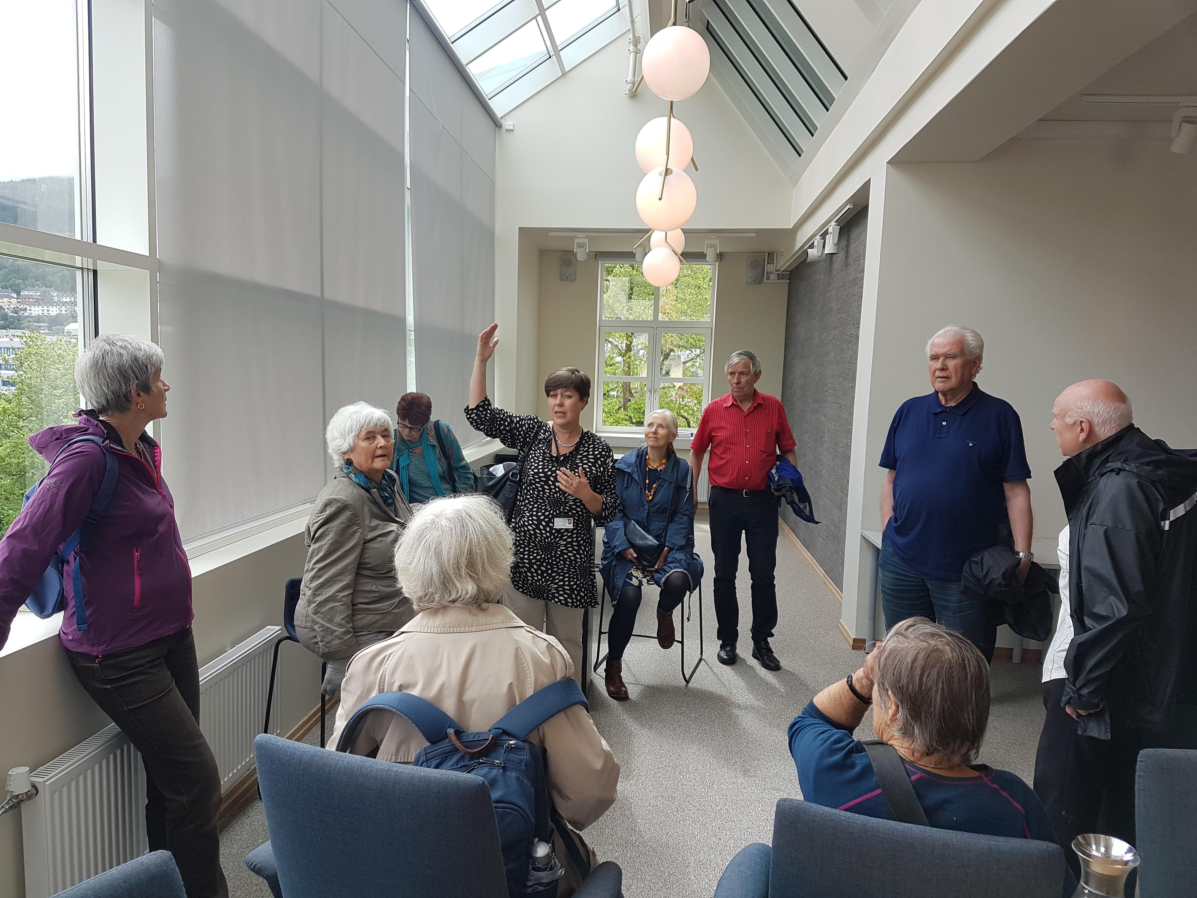 Fra den nyoppussede klimaklyngen. Opprinnelig var dette rommet et drivhus, og arkitekturen er bevart inn i dagens møterom.